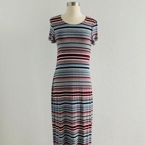 Bailey 44 Striped Jersey Stretch S/S Maxi Dress!